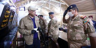 بازدید الکاظمی از مقرهای نظامیان عراق/ عکس