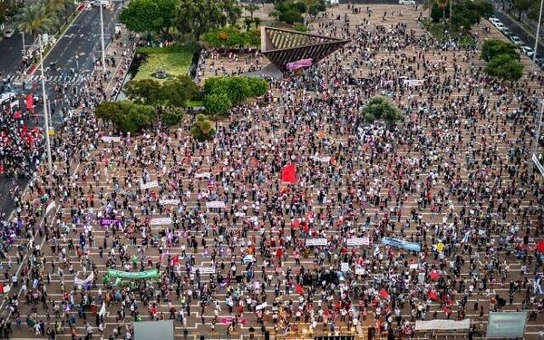 برگزاری تظاهرات در تلآویو در اعتراض به طرح الحاق کرانه باختری