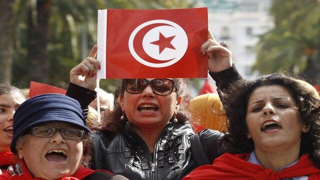 اعتراضات در تونس علیه راشد الغنوشی