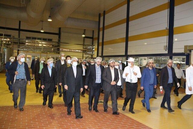 بازدید سرپرست وزیر صنعت معدن و تجارت از کارخانهجات گروه صنعتی میهن