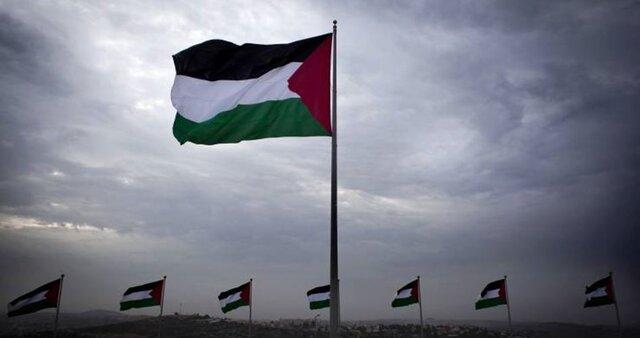 اهتزاز پرچم فلسطین در تلآویو