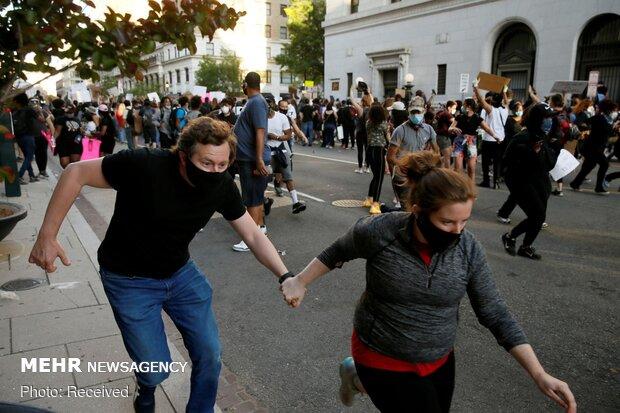 افزایش تلفات در اعتراضات آمریکا/ ۲نفر توسط پلیس در آیوا کشته شدند