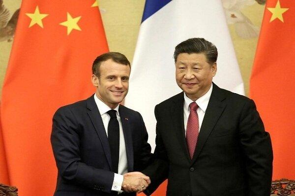 رؤسای جمهور فرانسه و چین رایزنی کردند