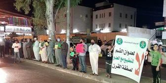 تشکیل زنجیره انسانی در اردن