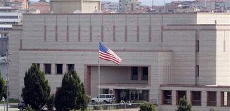 تظاهرات لبنانیها علیه مداخلات آمریکا در مقابل سفارت این کشور
