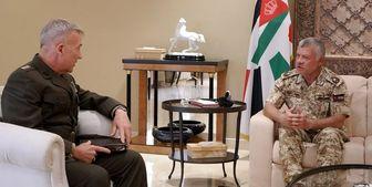 دیدار فرمانده تروریستهای «سنتکام» با شاه اردن