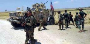 ارتش سوریه جلوی عبور کاروان نظامی آمریکا را گرفت+ تصاویر