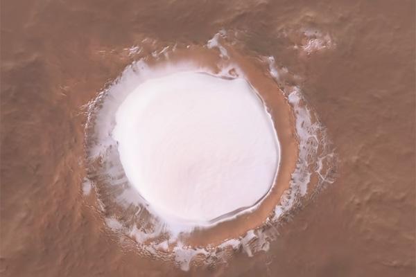 ویدیویی خیره کننده از دهانه «کارالیوف» مریخ [تماشا کنید]