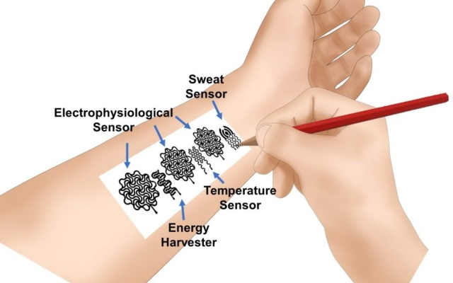 محققان با استفاده از قلم و کاغذ یک پوشیدنی هوشمند برای پایش سلامتی ساختند