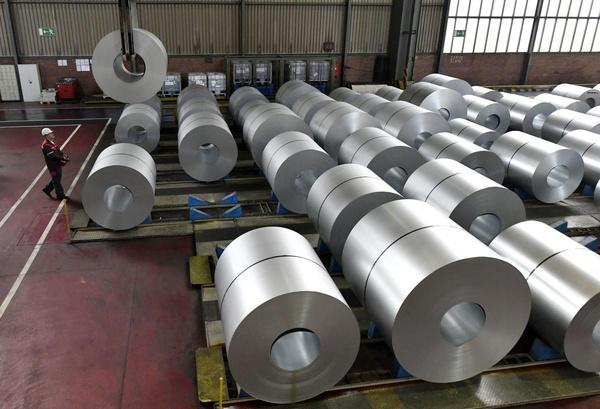 کاهش 19 درصدی واردات فولاد ایالات متحده