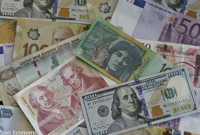 نرخ ۲۵ ارز افزایش و ۹ ارز کاهش یافت
