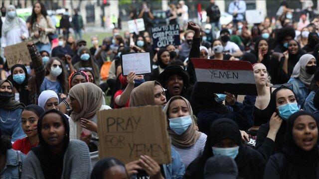 """تظاهرات """"یمن را نجات دهید"""" در لندن"""