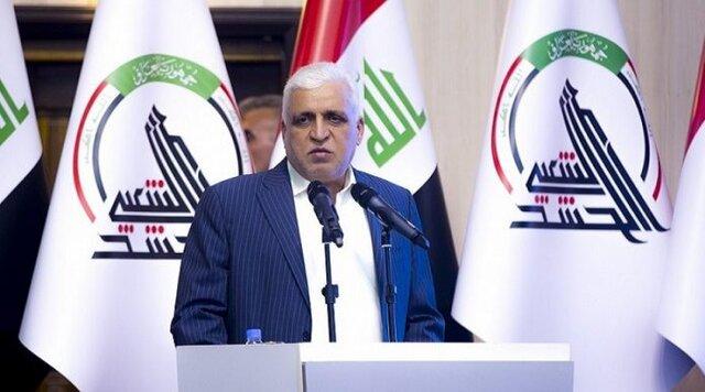 فالح الفیاض: لبیک حشد شعبی به فتوای مرجعیت نبود، موصل آزاد نمیشد