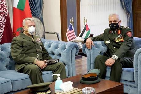 دیدار رئیس ستاد مشترک ارتش اردن با ژنرال مککنزی