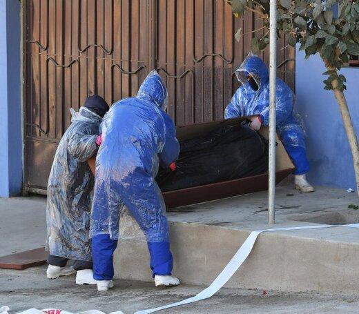 اجساد کرونایی کنار زبالهدانیها /عکس