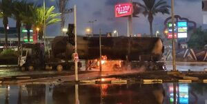 آتش گرفتن تانکر حامل گاز در حیفا