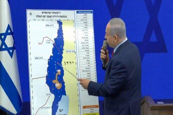 نتانیاهو مناطق جدیدی را به نقشه الحاق کرانه باختری اضافه کرد!