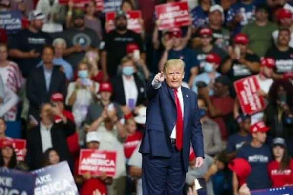 ترامپ دومین همایش انتخاباتی خود را برگزار می کند