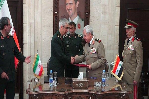 ایران و سوریه توافقنامه همکاریهای نظامی و امنیتی امضا کردند