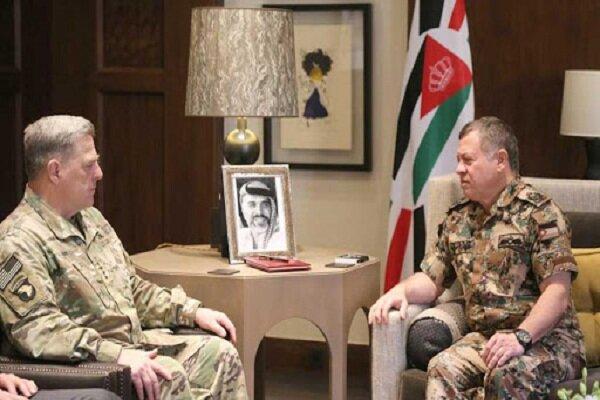 فرمانده تروریستهای سنتکام و شاه اردن دیدار کردند