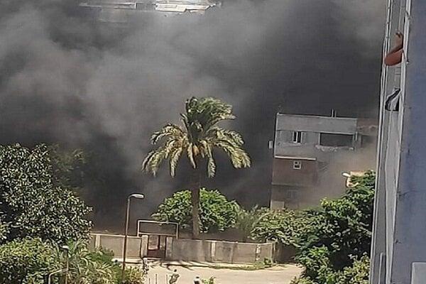 آتش سوزی گسترده در بازاری در جنوب قاهره