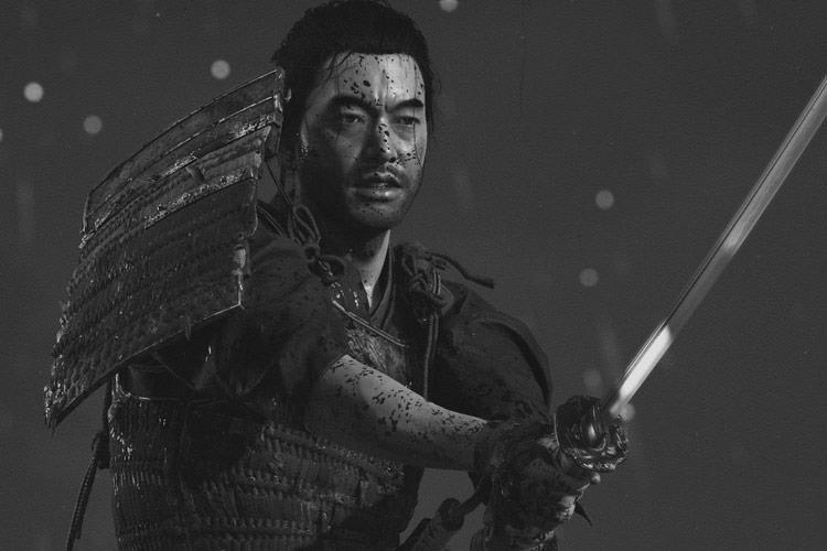 حالت سیاه و سفید سینمایی بازی Ghost of Tsushima با تمرکز روی آثار آکیرا کوروساوا خلق شده است