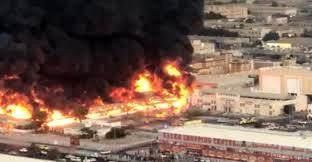 آتشسوزی در شهر عجمان امارات