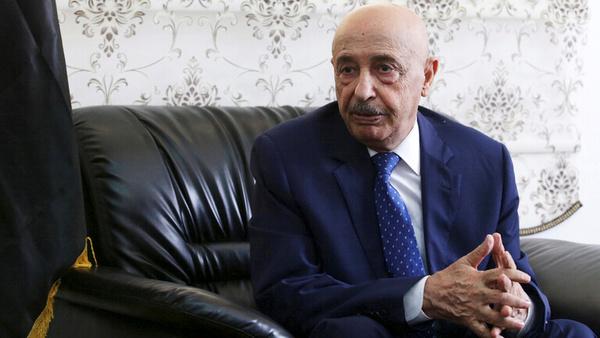 عقیله صالح وارد قاهره شد