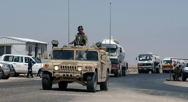 حمله به مواضع نیروهای آمریکایی در مرز عراق و کویت