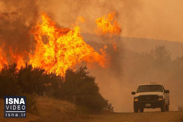 ویدئو / آتش کالیفرنیا سرعت گرفت، خانهها تخلیه شدند