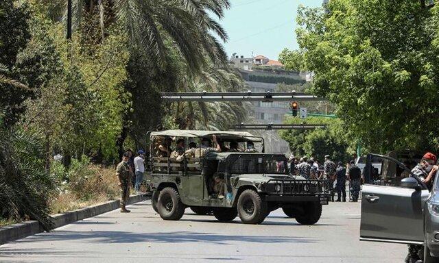 درگیری تظاهرکنندگان و نیروهای امنیتی لبنان مقابل مقر وزارت نیرو در بیروت