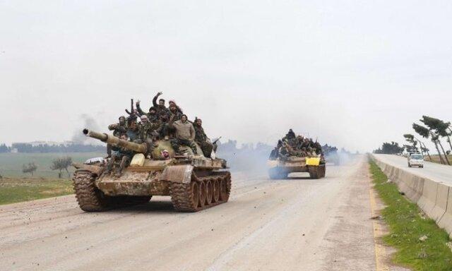 مقابله ارتش سوریه با حملات شبانه داعش به شرق حماة