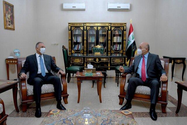تاکید صالح والکاظمی بر برگزاری انتخابات زودهنگام و تعقیب بقایای داعش