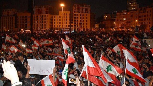 درگیری پلیس لبنان با معترضان خشمگین در بیروت