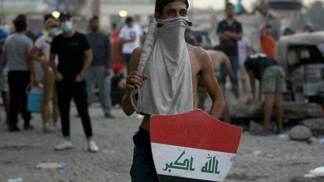 معترضان عراقی ساختمان استانداری بغداد را محاصره کردند