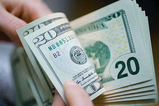 کاهش ۱۳۰۰ تومانی نرخ دلار