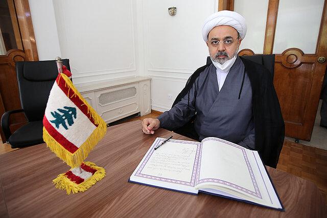 حضور دبیرکل مجمع جهانی تقریب مذاهب اسلامی در سفارت لبنان