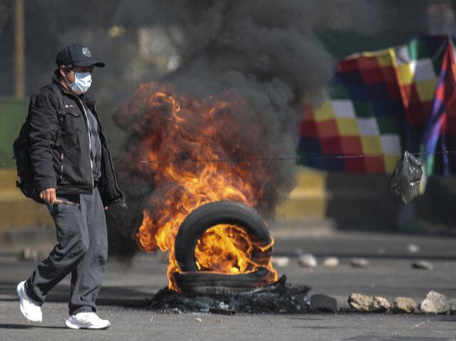 معترضان در بولیوی، خواهان برگزاری فوری انتخابات