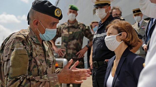 وزیر دفاع فرانسه در بیروت: کنار لبنان ایستاده ایم