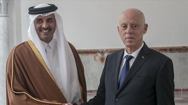 امیر قطر: آماده حمایت از تونس در مرحله کنونی هستیم