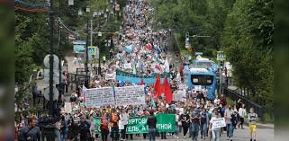 """برگزاری ششمین اعتراضات """"ضدکرملین"""" در خاباروفسک"""