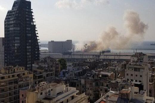 ببینید | تصاویری از نمای نزدیک لحظه انفجار بیروت