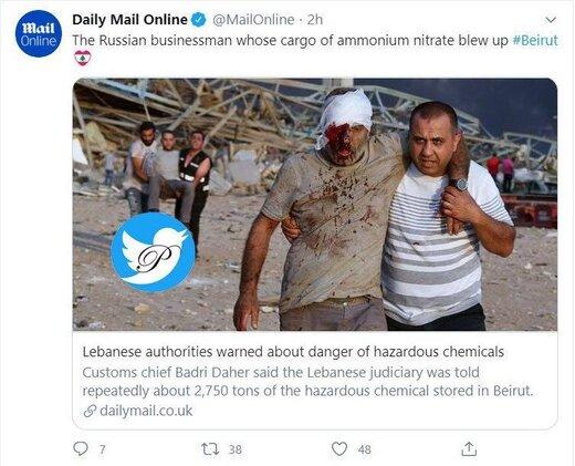 عامل اصلی انفجار بیروت مشخص شد؛یک تاجر روس/عکس