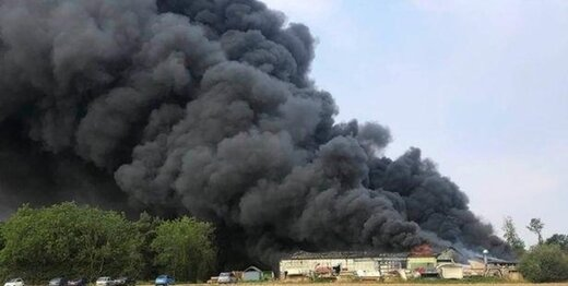 انفجار مهیب در نزدیکی فرودگاه نظامی انگلیس