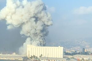 وقوع انفجار مهیب در بندر بیروت لبنان +فیلم