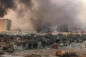 اعلام عزای عمومی در لبنان بهدلیل انفجار انبار مواد منفجره