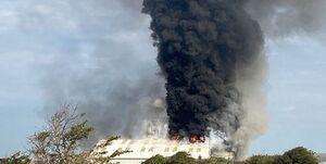 وقوع یک آتش سوزی گسترده در «ساسکس» انگلیس +عکس