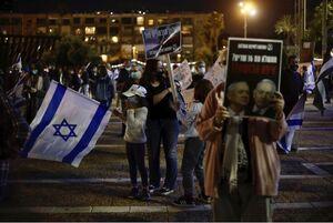 تظاهرات ۱۰ هزار معترض در برابر اقامتگاه نتانیاهو