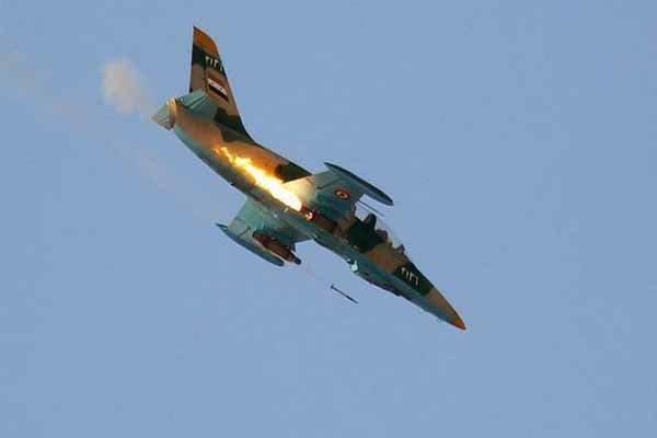 بمباران انبار بزرگ سلاح و مهمات تروریستها در شمال غرب سوریه