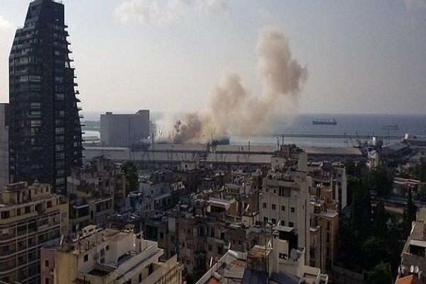 وقوع انفجار قوی در بندر بیروت